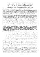 Compte Rendu Conseil Municipal du 14-09-2020
